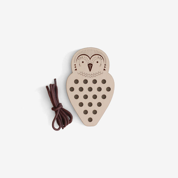 Wooden Lacing Toy - Owl