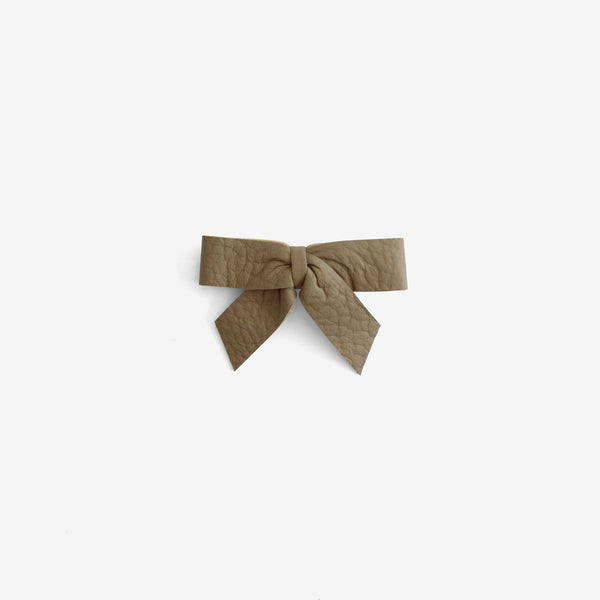 Anne Leather Bow Clip - Backwoods