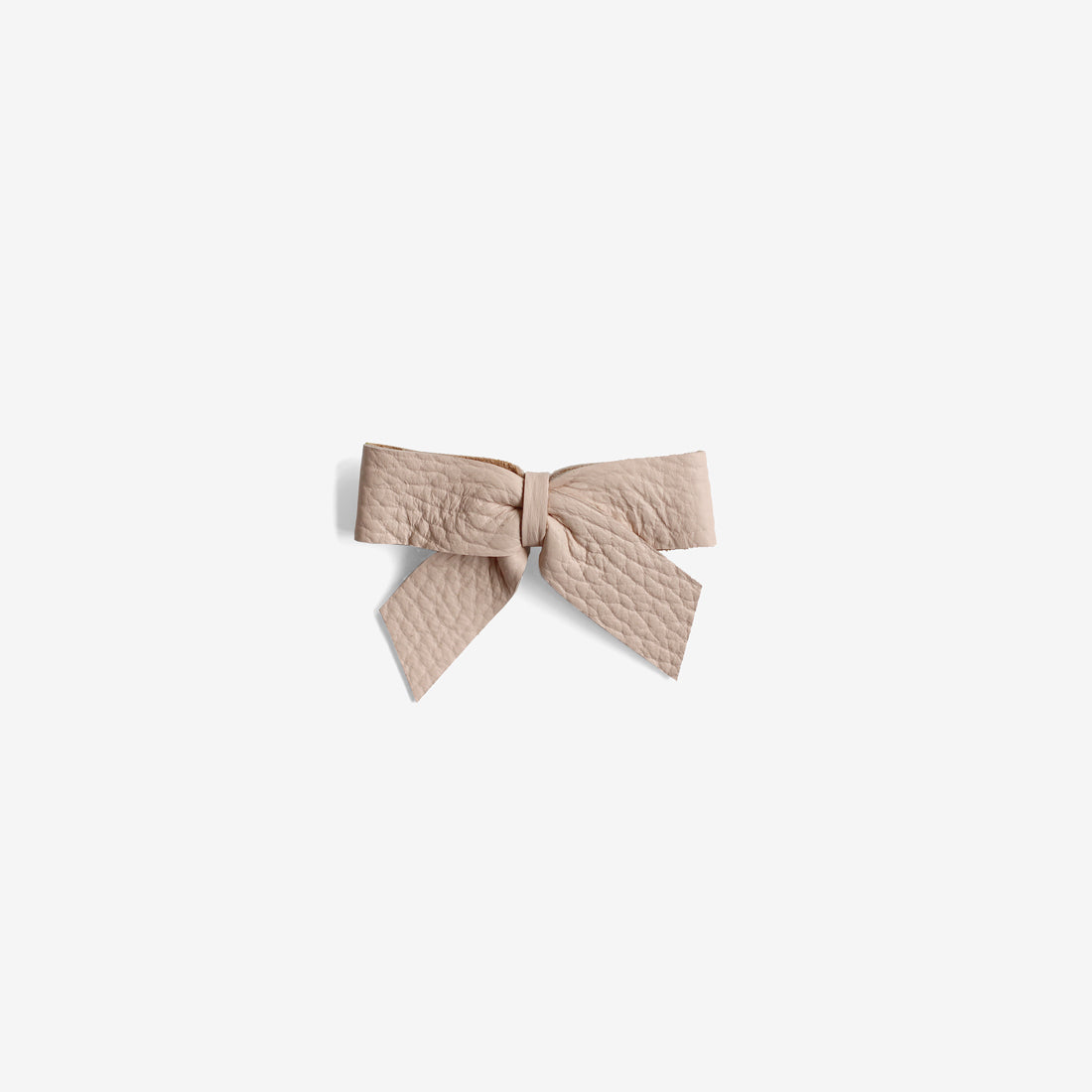 Anne Leather Bow Clip - Dune