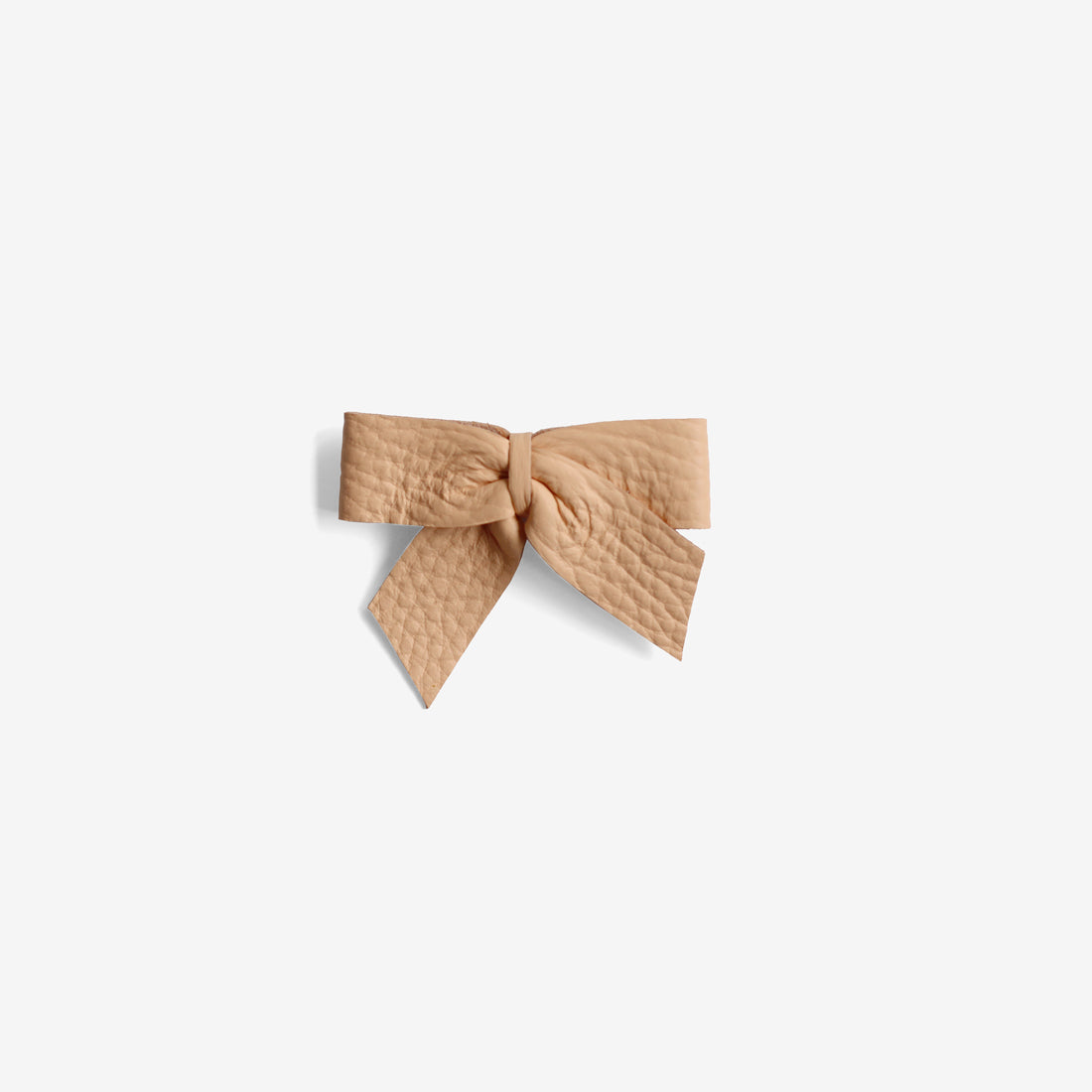 Anne Leather Bow Clip - Glow