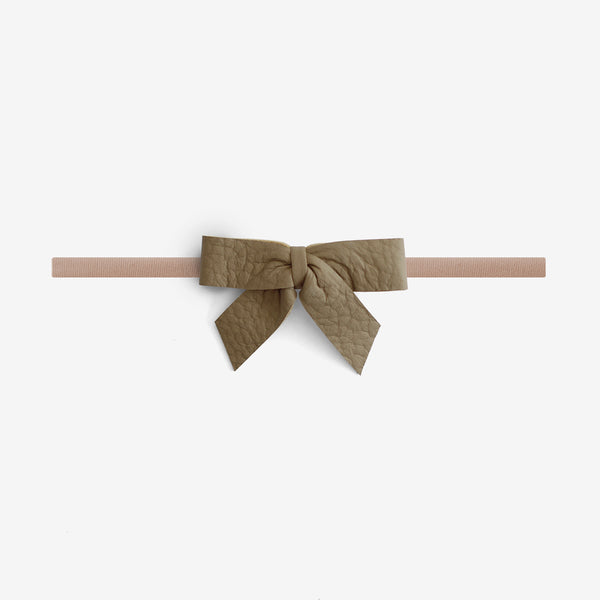 Anne Leather Bow Headband - Backwoods