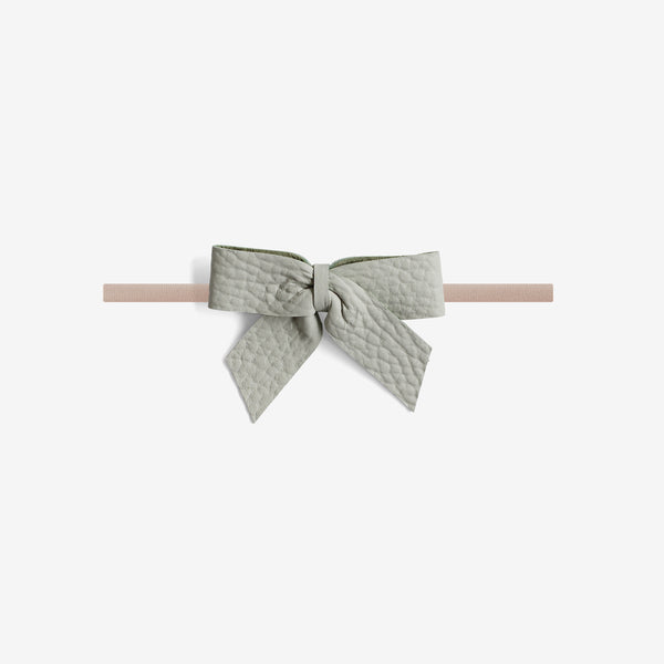 Anne Leather Bow Headband - Breeze