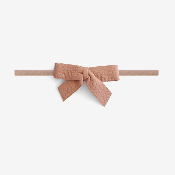 Anne Leather Bow Headband - Calamine