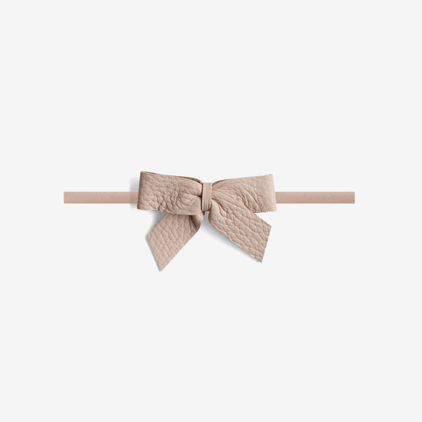 Anne Leather Bow Headband - Dune
