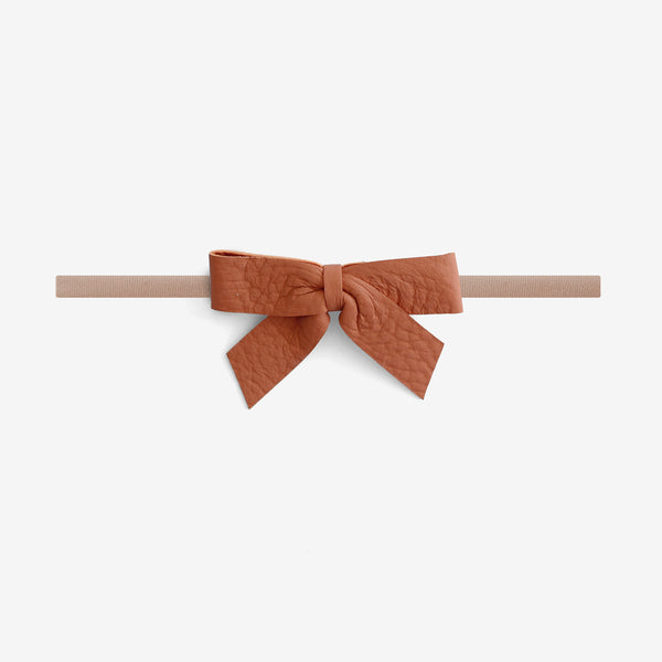 Anne Leather Bow Headband - Ember