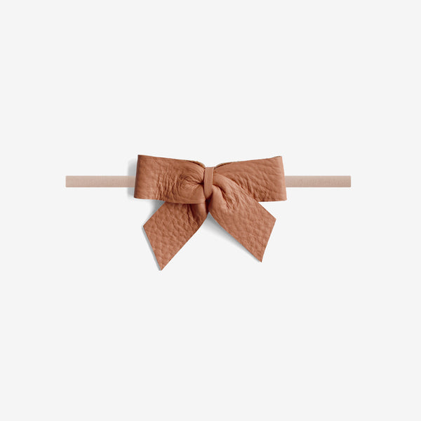 Anne Leather Bow Headband - Glazed