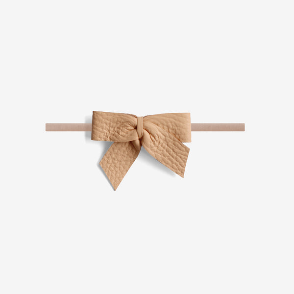 Anne Leather Bow Headband - Glow