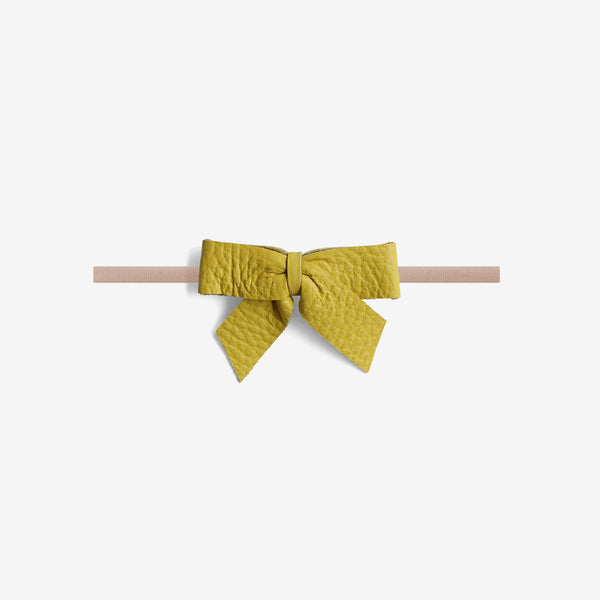 Anne Leather Bow Headband - Laguna