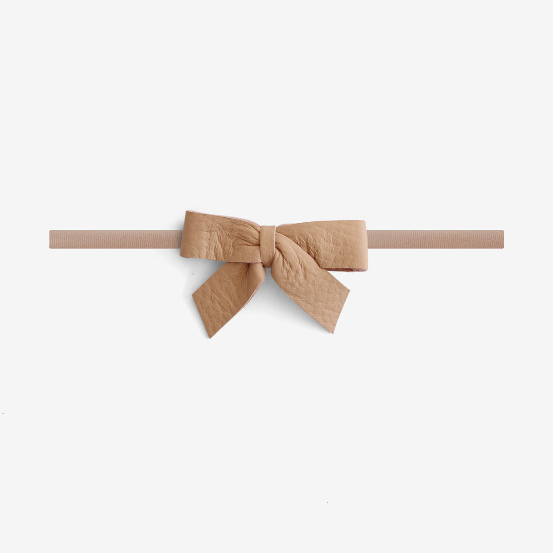 Anne Leather Bow Headband - Matchstick