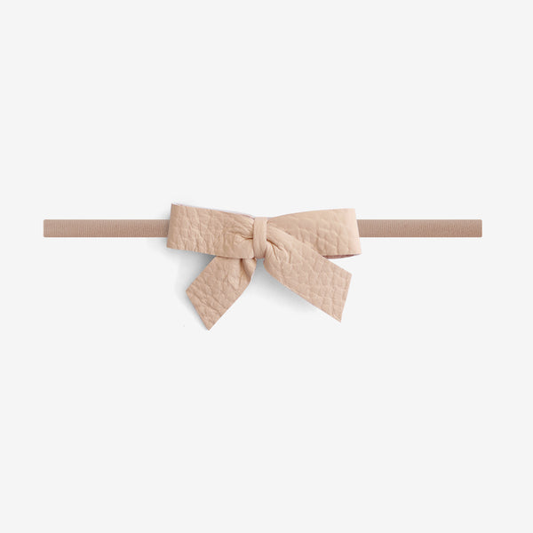 Anne Leather Bow Headband - Sown