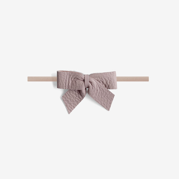 Anne Leather Bow Headband - Wander