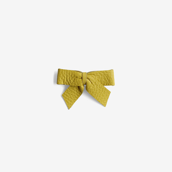 Anne Leather Bow Clip - Laguna