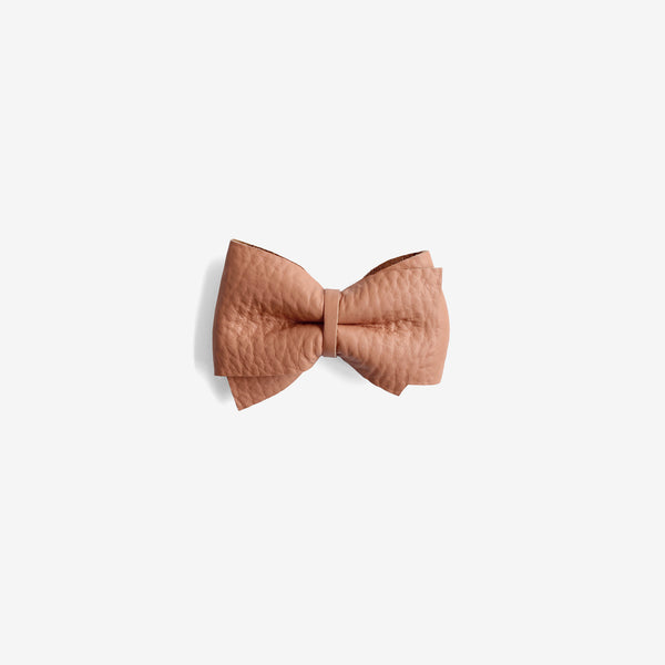 Blaire Petite Leather Bow Clip - Glazed