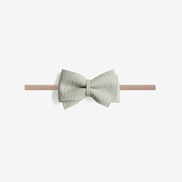 Blaire Petite Leather Bow Headband - Breeze