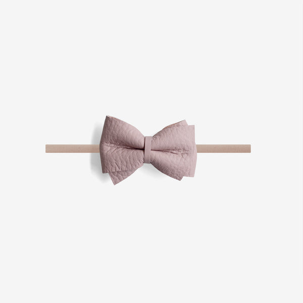 Blaire Petite Leather Bow Headband - Wander