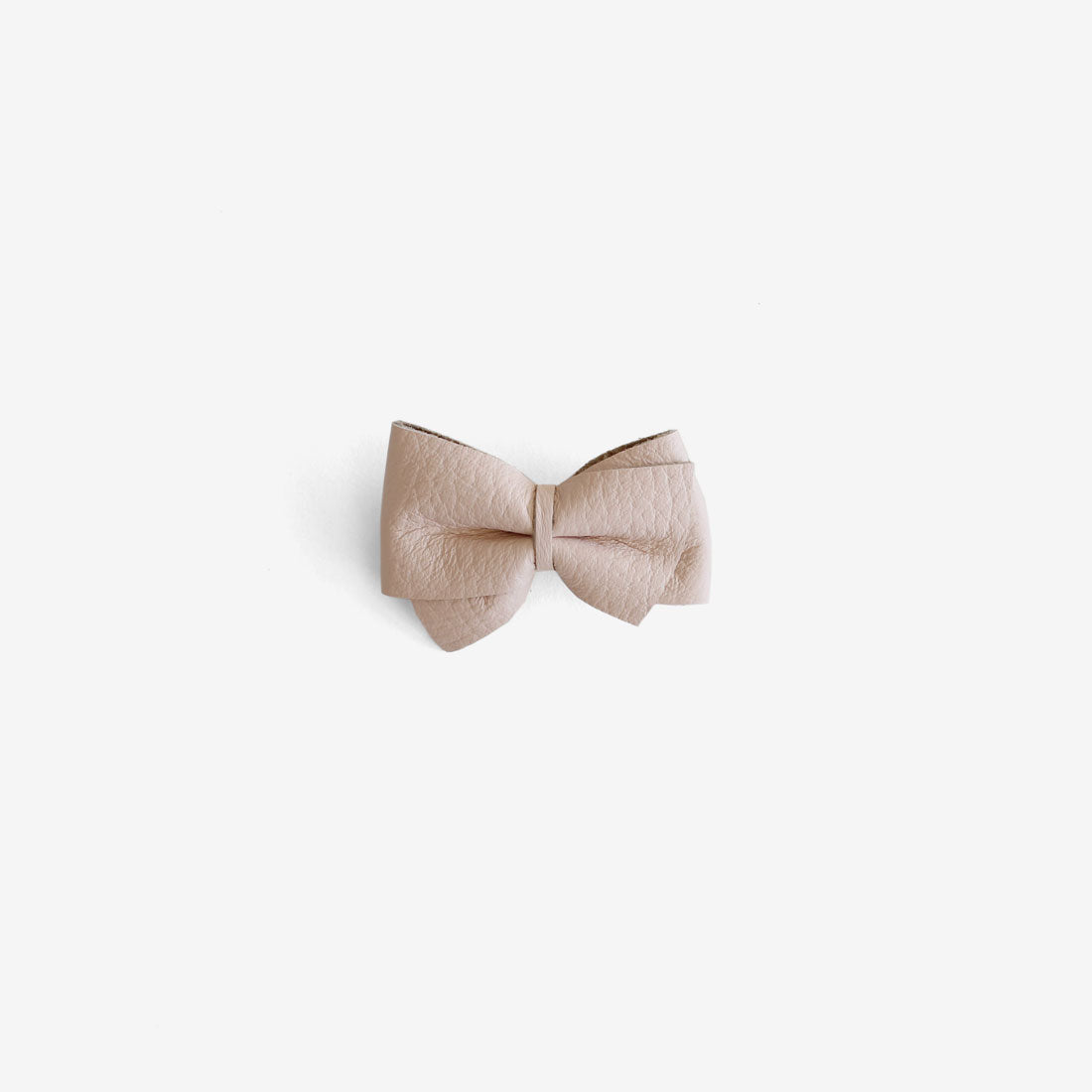 Blaire Petite Leather Bow Clip - Flushed