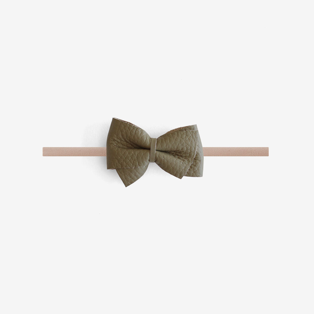 Blaire Petite Leather Bow Headband - Cadet