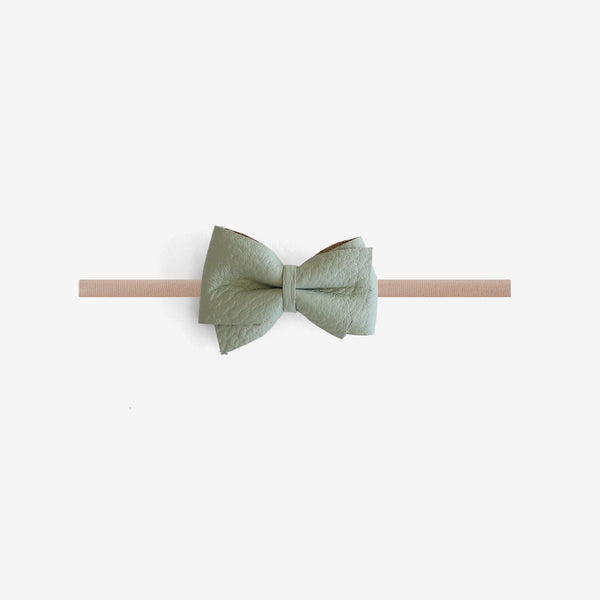 Blaire Petite Leather Bow Headband - Dixon