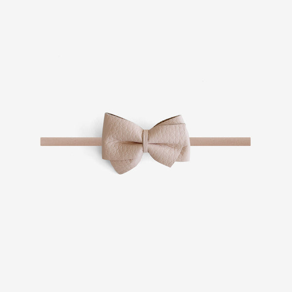 Blaire Petite Leather Bow Headband - Flushed