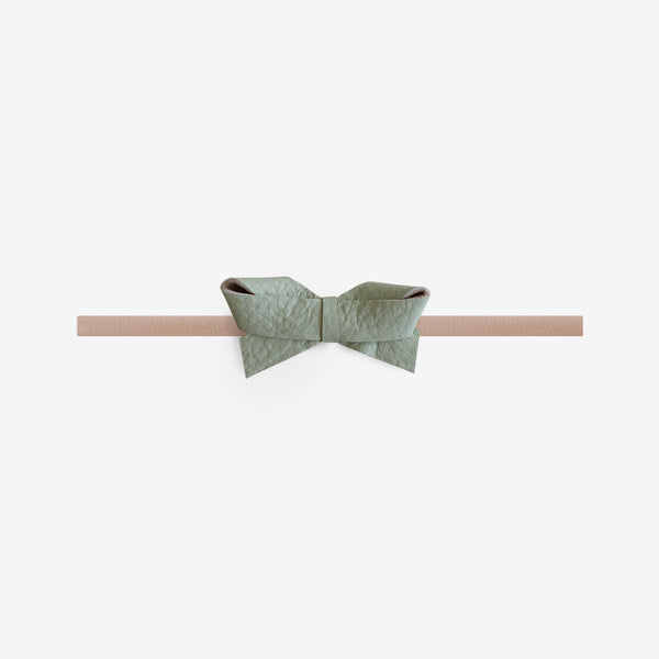 Sophie Leather Bow Headband - Dixon
