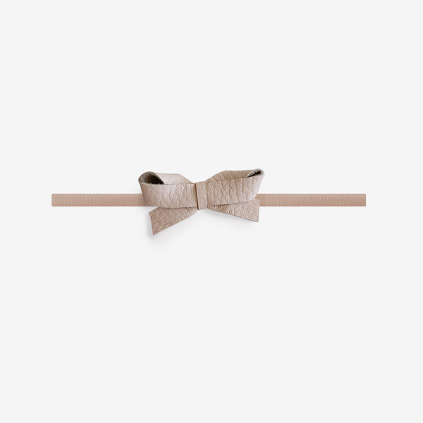 Sophie Leather Bow Headband - Flushed