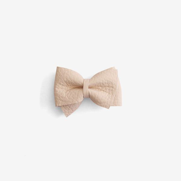 Blaire Petite Leather Bow Clip - Sown