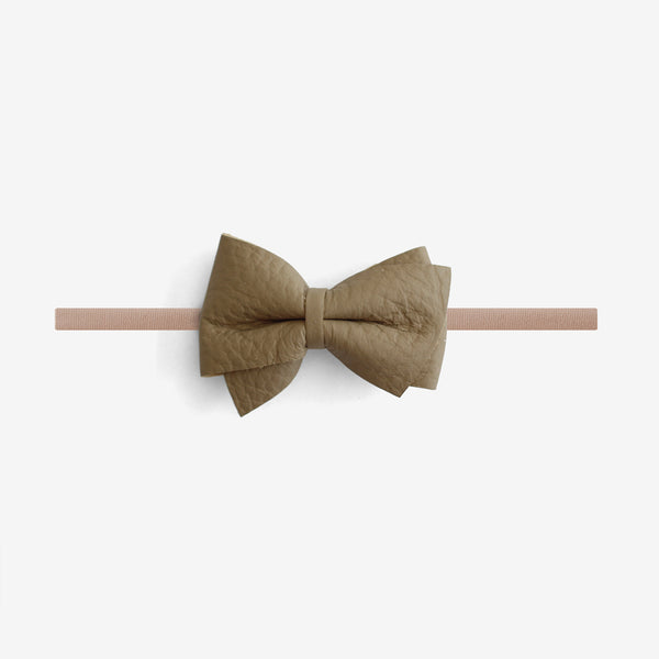 Blaire Petite Leather Bow Headband - Backwoods