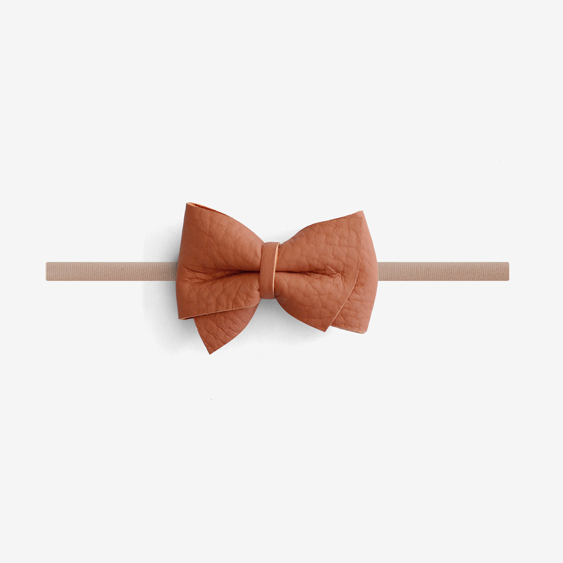 Blaire Petite Leather Bow Headband - Ember