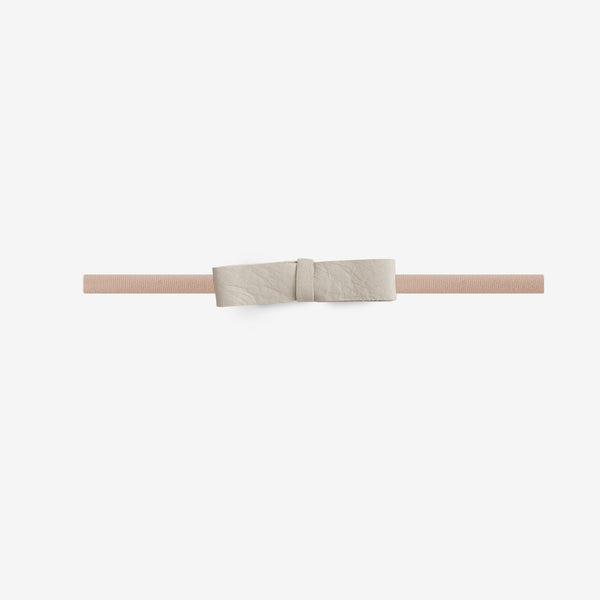 Blake Petite Leather Bow Headband - Chiffon