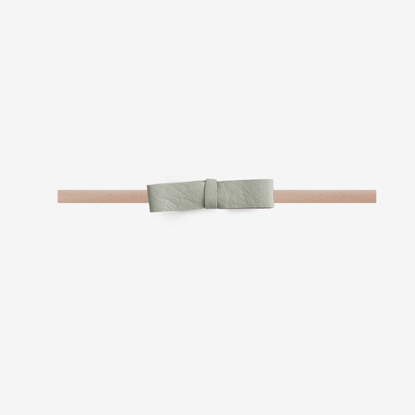 Blake Petite Leather Bow Headband - Breeze