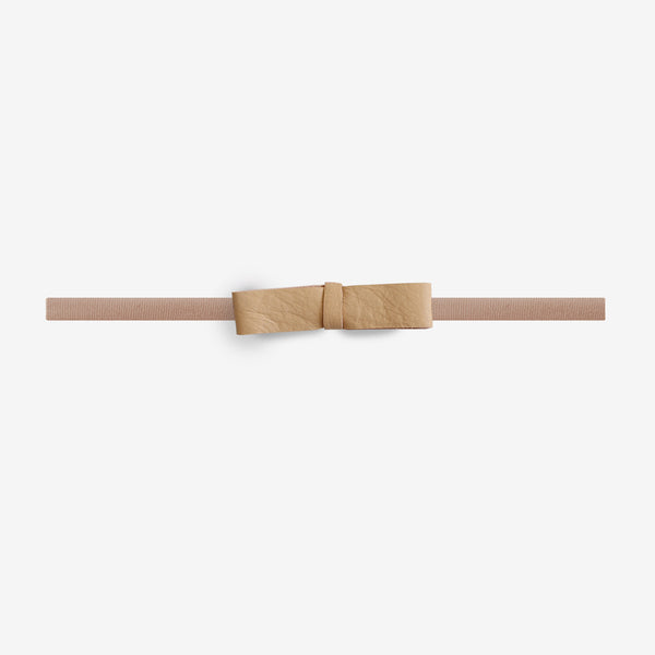 Blake Petite Leather Bow Headband - Matchstick