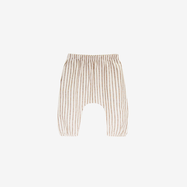 Organic Woven Baby Pant - Fennel Stripe