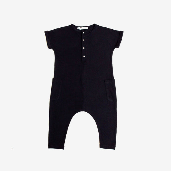 Bamboo Jersey O.G. Romper - Black