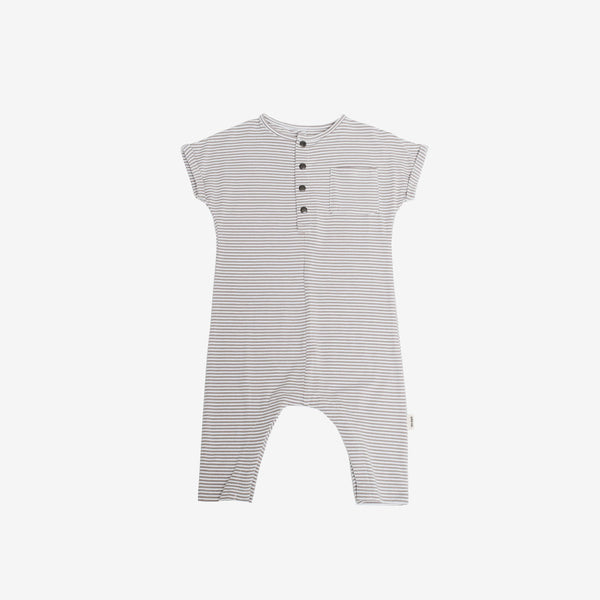 Bamboo Jersey O.G. Romper - Taupe Stripe