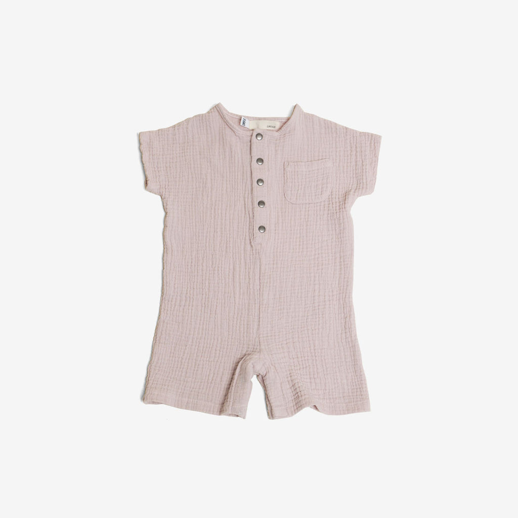Just Chillin' Romper - Blush Gauze