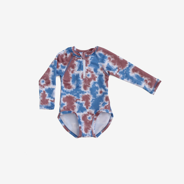 Recycled PET Rashguard Swimsuit - Tie-Dye