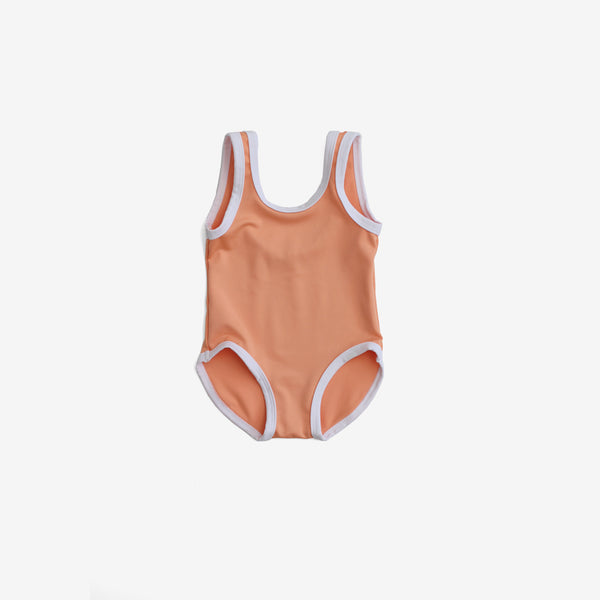 Recycled PET Tank Swimsuit - Melon
