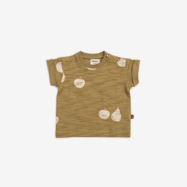 Organic Cotton Slub S/S Tee - Apple Pear