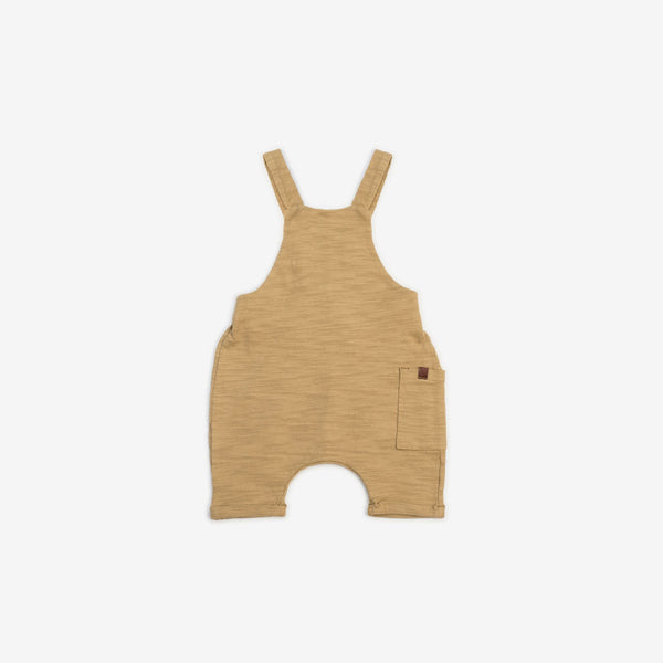Organic Cotton Slub Short Overalls - Honey