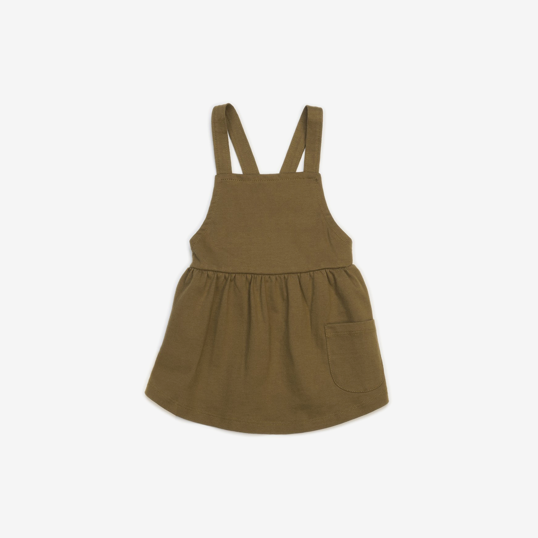 Organic Jersey Pinafore Jumper - Spice