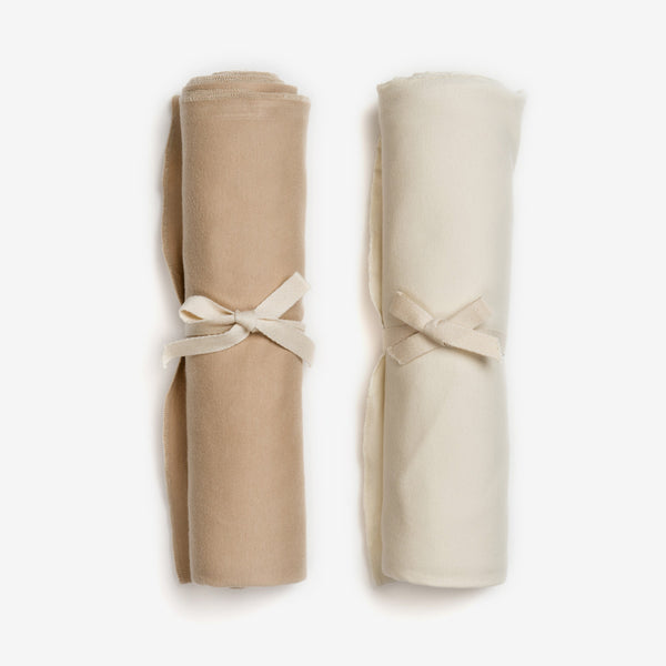 Organic Swaddle Set - Latte/Vanilla
