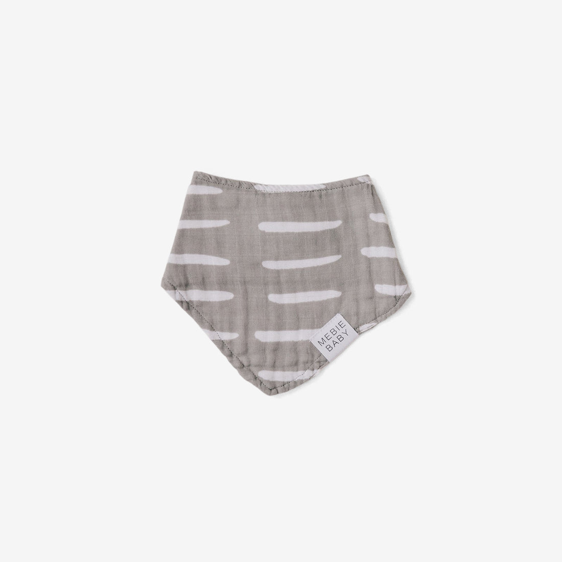 Cotton Muslin Bib - Grey Dash