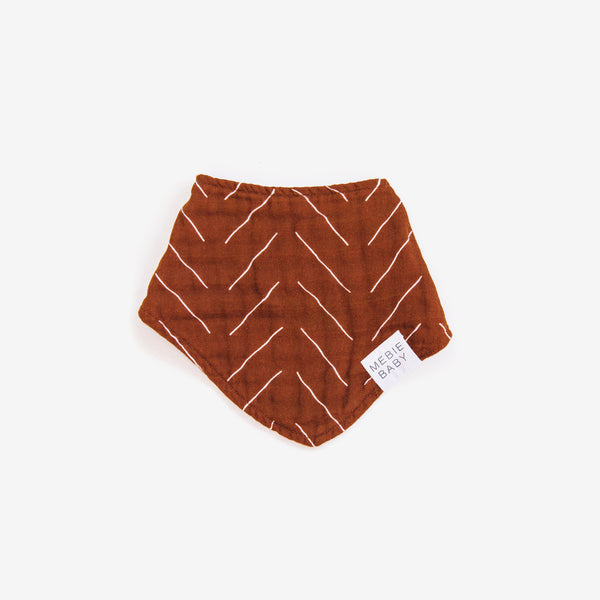 Cotton Muslin Bib - Rust Mudcloth
