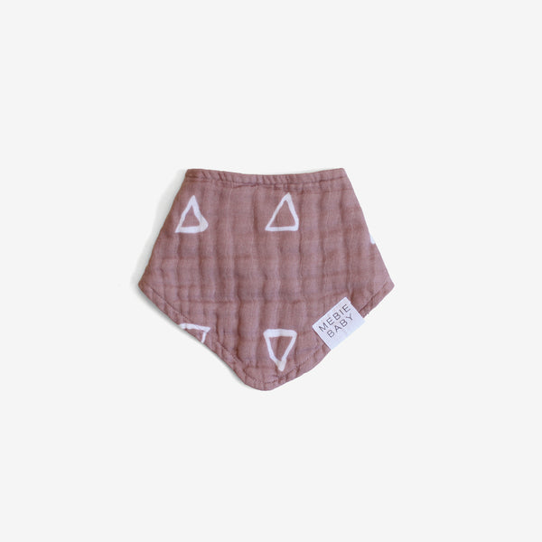Cotton Muslin Bib - Blush Triangle