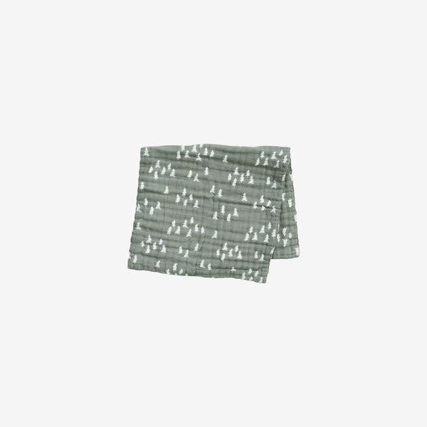 Cotton Muslin Burp Cloth - Pines