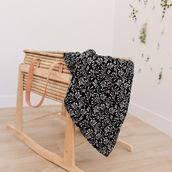 Cotton Muslin Quilt - Black Vine