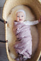 Cotton Muslin Swaddle Blanket - Blush Triangle
