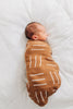 Cotton Muslin Swaddle Blanket - Mustard Mudcloth