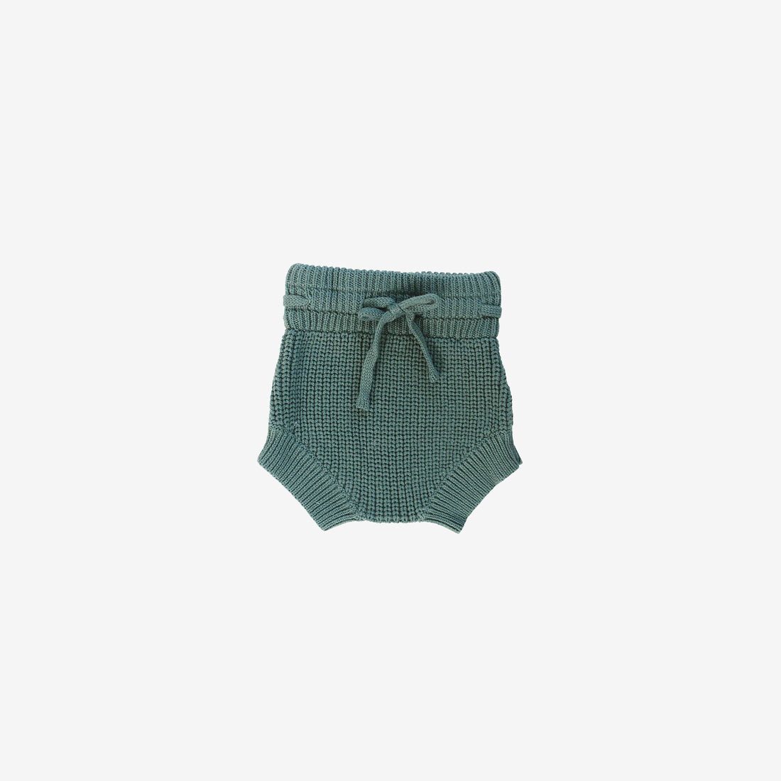 Cotton Rib Knit Bloomers - Teal
