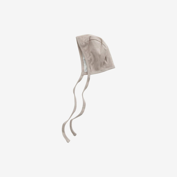 Organic Cotton Rib Bonnet - Oatmeal